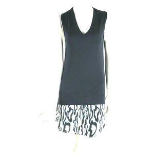 Equipment XS Blue Cashmere Blend Tunic Mini Dress